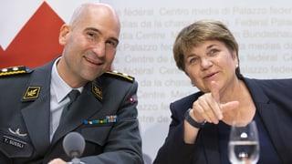 Viola Amherd nutzt die Chance der Miliz-Armee