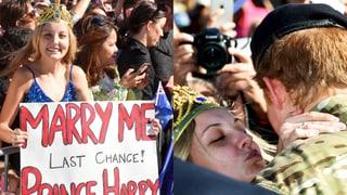 Küsse und Heiratsanträge: Prinz Harry in Australien