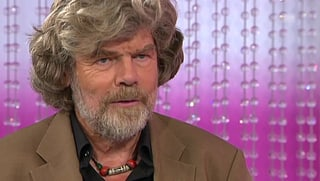 In den Bergen: Reinhold Messner hat Angst um seinen Sohn