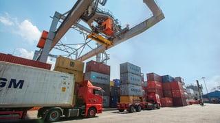 Kräftiger Zuwachs der Importe in die Schweiz