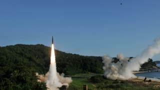 Ein Militärmanöver als Antwort auf den jüngsten Raketentest