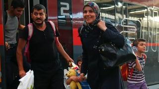 Erste Zugsflüchtlinge in München eingetroffen