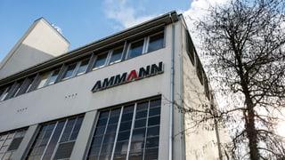 Steuerdossier der Ammann-Gruppe wird nun doch umfassend geprüft