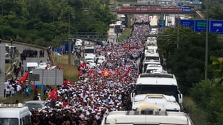 Der «Marsch der Gerechtigkeit» hat sein Ziel Istanbul erreicht. Hunderttausende feiern auf der Abschlusskundgebung.