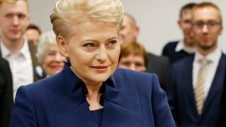 Litauens Präsidentin geht mit Mehrheit in Stichwahl