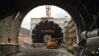 Bözberg-Tunnel: Die SBB baut die Gotthard-Achse aus. 2020 soll der Tunnel eröffnet werden.