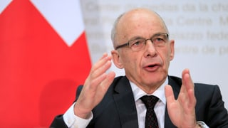 Finanzminister Ueli Maurer warnt vor Experiment