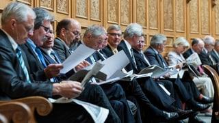 «Sesselkleber» sind im Parlament die kleinste Gruppe