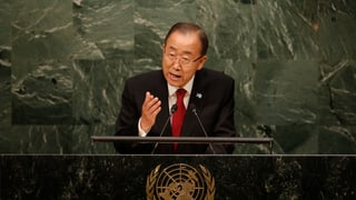 Flüchtlingskrise: Ban Ki Moon redet Europa ins Gewissen