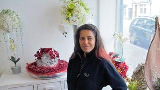 Die Blumenladen-Besitzerin mit dem Schreibblock