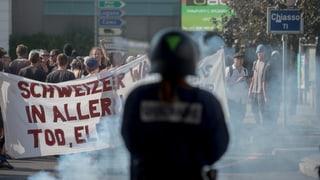 Gewaltsame Proteste gegen Schweizer Migrationspolitik