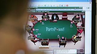 Leere Plätze an Roulette- und Pokertischen