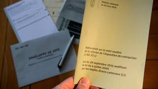 Überdeutliches Ja zur Unternehmens-Steuerreform