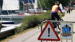 Sensibilisar per dapli respect tranter viandants e velocipedists