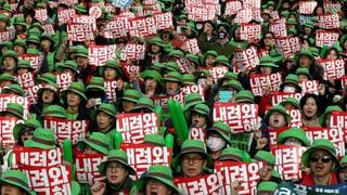 850'000 protestieren gegen südkoreanische Präsidentin