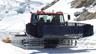 Präparierte Skipisten: Die Maschine findet den Weg allein