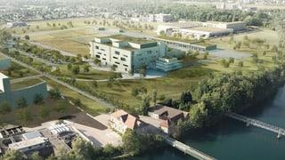 Der Rohbau des Kernstücks der Biogen-Fabrik ist fertig