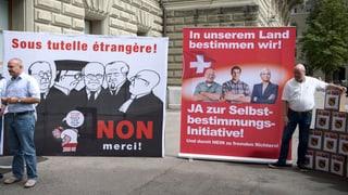 Schweiz soll Initiativen besser prüfen