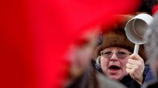 Russische Arbeiter gegen Putin