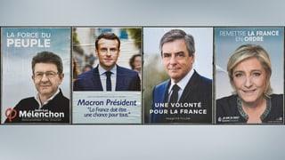 Piz a cup tranter Macron e Le Pen