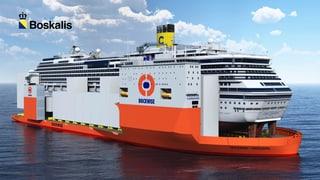 Costa Concordia: im Huckepack zur Verschrottung