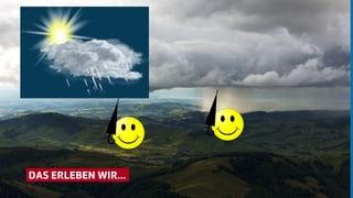 Wetterapp Symbol «Sonne Wolken Regen» - wir helfen interpretieren