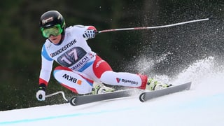 Lara Gut sisum il podest a Garmisch