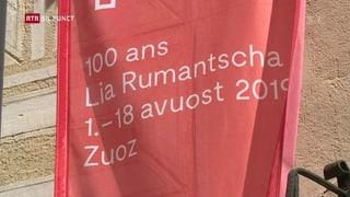 Ils da Zuoz sa legran sin la festa da 100 onns Lia Rumantscha