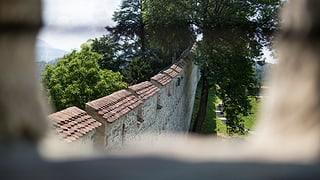Unter dem Musegghügel in Luzern wird gesprengt