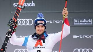 Loïc Meillard segund en slalom gigant da Saalbach