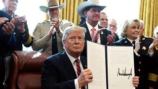 Trump legt erstes Veto ein