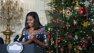 «O-bama-Baum»: Es weihnachtet im Weissen Haus