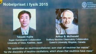 Physik-Nobelpreis für Teilchenforscher