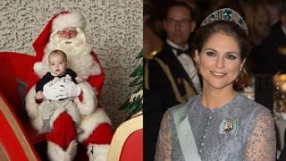Prinzessin Madeleine zeigt ihren kleinen Weihnachtsmann