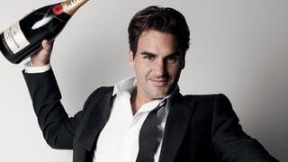 Jetzt lässt Roger Federer die Korken noch häufiger knallen