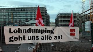 Dumpinglöhne? Unia blockiert Zürcher Grossbaustelle