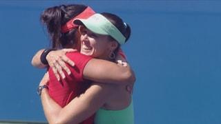 So lief der Doppel-Final der Frauen in New York.