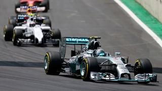 Rosberg in Brasilien vor Hamilton