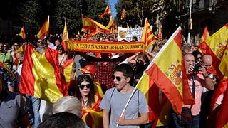 Hunderttausende gehen für Spaniens Einheit auf die Strasse
