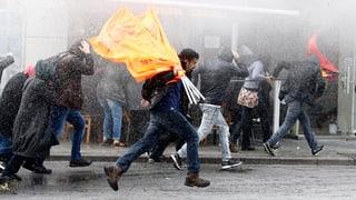 Tränengas gegen Solidaritäts-Proteste in Istanbul