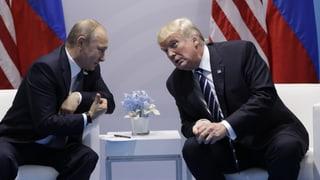 Putin und Trump reden lange miteinander und kommen sogar zu einem Beschluss. Sie vereinbaren eine Waffenruhe in Teilen Syriens.