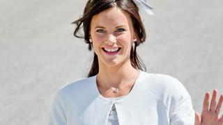 Sofia Hellqvist übt schon mal für die Hochzeit