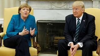 US-Präsident verweigert deutscher Kanzlerin den Händedruck