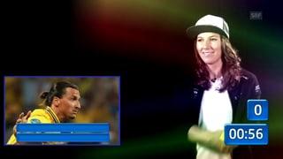 Erkennt Wendy Holdener Schwedens Fussballgott? (Artikel enthält Video)