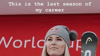 Vonn kündigt auf Instagram ihren Rücktritt an – oder doch nicht?
