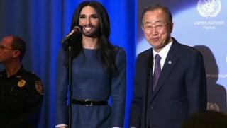 Conchita Wurst verzaubert Ban Ki-moon