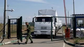 Hilfskonvoi: Erste Lastwagen erreichen Lugansk