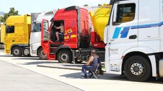 Mehr Lastwagen aus Osteuropa auf Schweizer Strassen