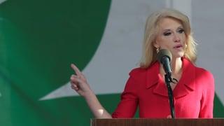 Conway begründet Einwanderungsstopp mit fiktivem «Massaker»
