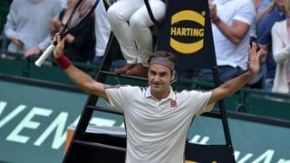 Federer sprintet in den Halle-Final